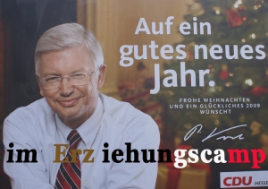 Wahlkampfplakat der CDU in Hessen 2008