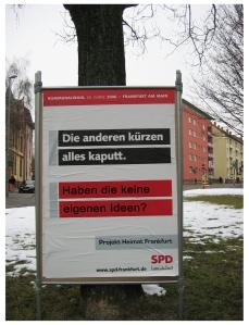 Wahlkampfplakat der SPD - leicht aktualisiert